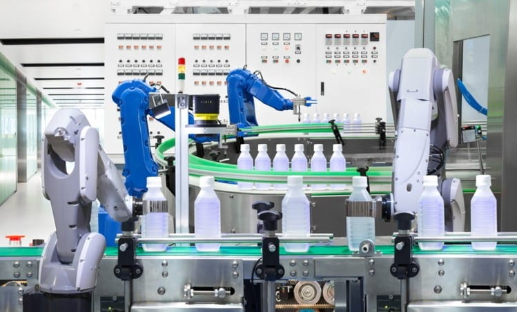 Automation and IoT in factory production line