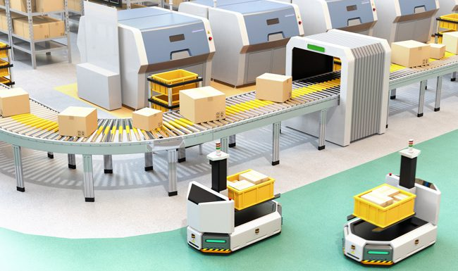 Image showing robots in warehouse management