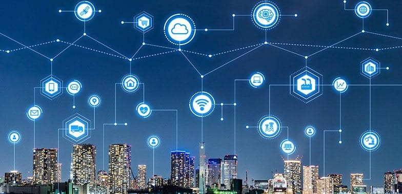 Image showing the role of cloud computing and IoT in smart cities