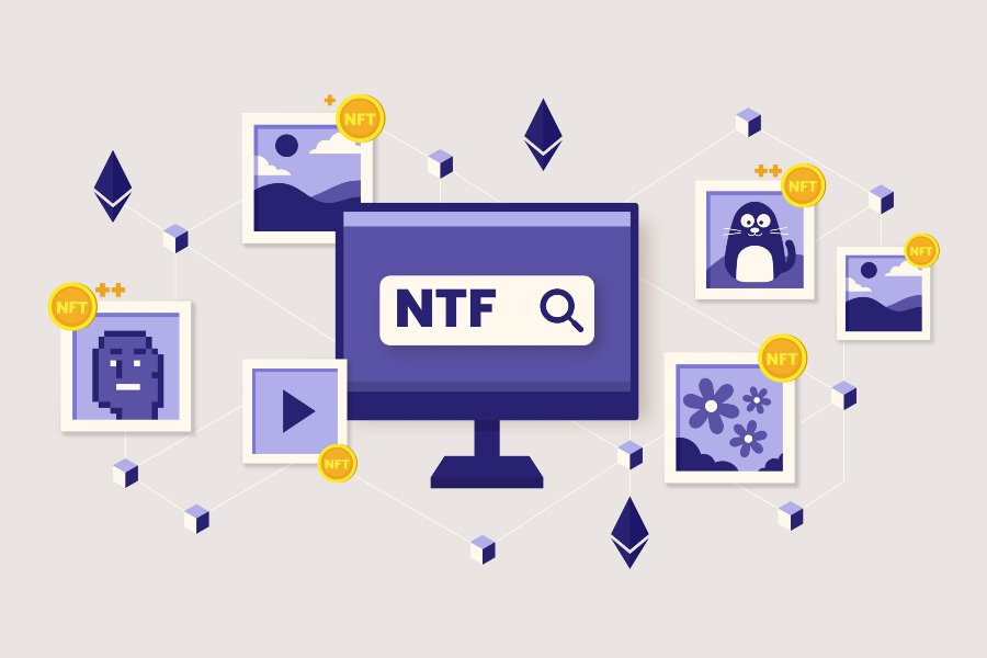 Graphic depicting how to create NFT art