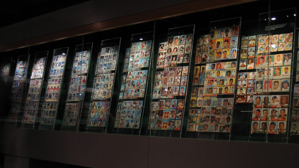 Collectible sport card wall of fame